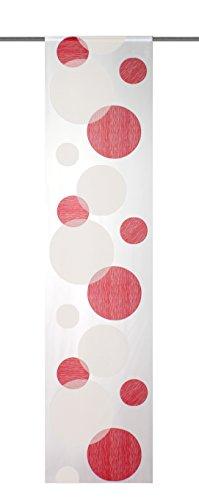 Home Fashion 87984-807 Schiebewand Scherli, 245 x 60 cm, Voile, rot