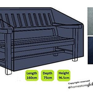 Dokon HG40 3 Gartenbank-Sitzbezug, wasserdicht, atmungsaktiv, Oxford-Gewebe, für den Außenbereich, 163 x 66 x 63/89 cm, Schwarz