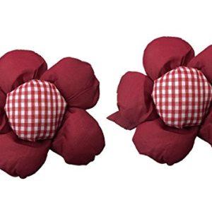 Homgaty 1Paar niedliche Blume Form Raffhalter Gardinen Halter Klemme für Kinderzimmer Schlafzimmer Mädchen–Sun Flower