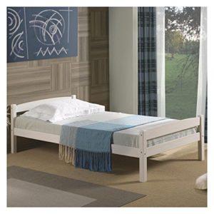 IDIMEX Einzelbett Kinderbett Gästebett Bett Felix, 90×190 cm, weiß lackiert