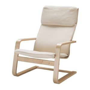 IKEA Pello Cantilever Chair, Birch/Steel