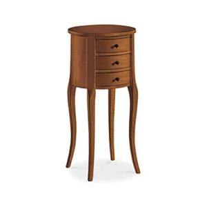 InHouse srls Nachttisch vielzweck, Stil klassisch, aus Massivholz u. MDF, Ausführung Nussbaum Hochglanz – 34 x 34 x 71 …