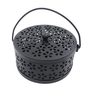 Iron Hollow Mosquito Coils Box Moskito Killer Pest Repeller Mosquito Coils Holder Case