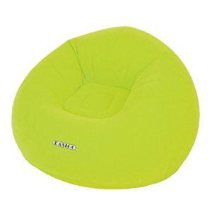 Easigo Lazy Chair Ø 105 x 65 cm aufblasbarer Sessel velourbeschichteter Sitzsack Sitzkissen Relax Lounge Stuhl Hocker…