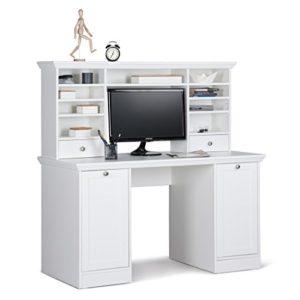 Jugendzimmer Landström 164 weiß 7-teilig Bett komplett 140×200 Schreibtisch Bücherregal Schrank Nachttisch Rost Matratze