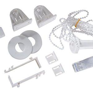 K-home Madrid+Denia.01.SB Klemmträger und Zubehör Montage-Set für Klemmfix Doppelrollo, Plastik, 6,5 x 1,5 x 3,5 cm, weiß