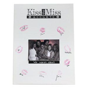 KATINGA Kiss The Miss – Leinwand als Erinnerung an den Jungesellinnenabschied JGA