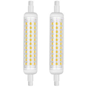 KINDEEP R7S 12 Watt / 1100Lumen LED Röhre, Warmweiß(3000K), Nicht-Dimmbar, 2er-Pac