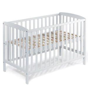 KOKO Babybett Gitterbett Kinderbett MAX 140×70 cm BUCHE naturbelassen