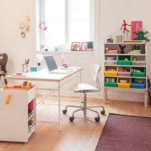 SET – Kinderschreibtisch Eiermann 150×75 cm weiß + Stuhl Turtle weiß – Richard Lampert Möbel