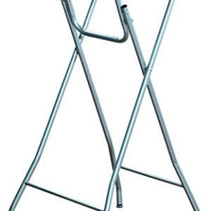 Kesper 259 Stehtisch, klappbar, Aluminium, Platte: Buchendekor, Maße: ca. Ø 60 cm/Höhe: ca 104 cm