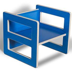 werkstatt-design Kindermöbel Wendehocker Holz farbig, praktischer Kinderhocker der mitwächst