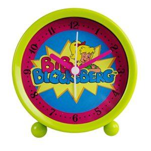 Kinderwecker Bibi Blocksberg grün Quarzwecker Wecker für Kinder Kinderuhr Uhr