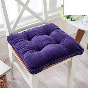 weiwei Kissen quadratisch gefüllt, Kissen Esszimmer, Non-Slip Computer Chair Mat, Strohmatte der Büro 40x40cm(16x16inch) A