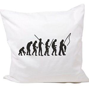 Druckerlebnis24 Kissenbezug 40×40 cm Revolution Angeln- Angler Petri Heil Fisch aus Baumwolle – Kissenhülle- Bettbezug…
