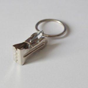 Klassiker Gardinenstangenringe mit Gardinenklammer aus Metall – Silber B Ø25mm N (Packung mit 10)