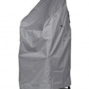 Mehr Garten Premium Schutzhülle für Stapelstühle/Gartenstühle aus Polyester Oxford 600D – lichtgrau Größe XL