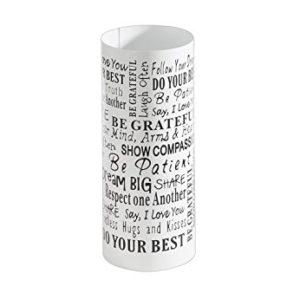 Kobolo Dekorativer modernen Schirmständer Words aus weißem Metall