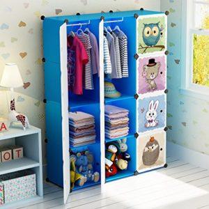Koossy Transparentes Regalwürfel Regalschrank Aufbewahrung Stufenregal Bücherregal 20 Fächer für Arbeitszimmer und…