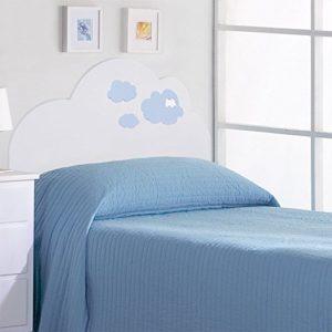 Juvenilesoutlet Kopfteil für Kinderbetten: Modell Blaue Wolken (Matratzenbreite 90cm Oder 105cm) (Für Matratze: 105cm)
