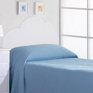 Juvenilesoutlet Kopfteil für Kinderbetten: Modell Wolken (Matratzenbreite 90cm Oder 105cm) (Matratze:105cm)