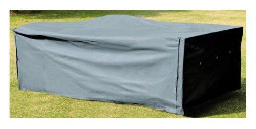 Kronenburg Schutzhülle für Tisch Stühle Sitzgruppen Sitzgarnituren 200 x 160 – Oxford Gewebe 420 D – Farbechtheit TÜV SÜD geprüft