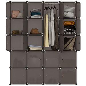 LANGRIA ANGRIA Regalsystem Kleiderschrank 20 Kubus Garderobenschrank für Aufbewahrung Kleidung, Schuhe, Spielzeug und…