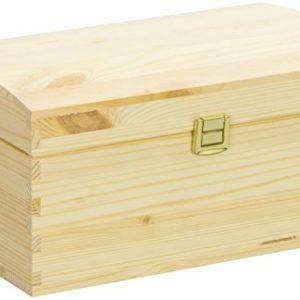 LAUBLUST Große Holztruhe gewölbter Deckel – 26x16x13cm, Natur, FSC® | Allzweck-Kiste aus Holz – Aufbewahrungskiste | Geschenk-Verpackung | Deko-Kasten zum Basteln | Spielzeug-Truhe | Erinnerungsbox