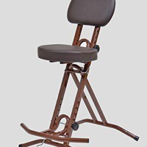 LIBEDOR Stehhilfe Stehhocker Stehsitz Sitz Sitzhilfe Stehstütze BRAUN ergonomischer Sitz mit 6 cm dickem Polster bis 130…