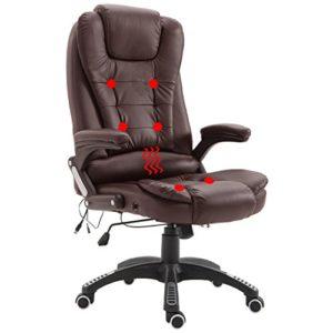 LZQ Massagesessel Massage Stuhl Ergonomischer Bürostuhl mit Massagefunktion Drehstuhl Höhenverstellbarer Chefsessel…