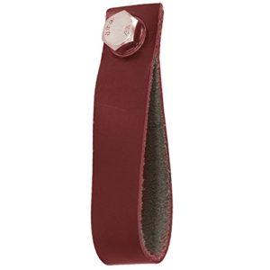 La Finesse Lederschlaufe 9cm Schlaufengriff für Möbel & Schubladen Rot