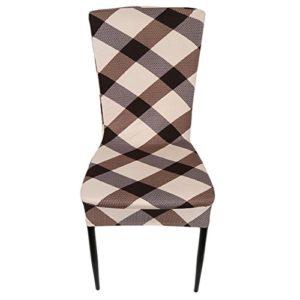Lalang Mode Einfachheit Bezug Stuhlhusse Stretch Stuhlhussen für Dining Chair Sitzbezüge Hochzeit Party Dekoration Bankette Stuhl-Abdeckung Dekorative Stuhlüberzüge (010#)