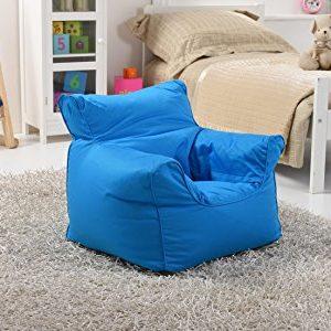 Lancashire Textiles Kinder Mini Bean Bag Sitz/Stuhl für Jungen und Mädchen in Drill Blue
