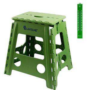Lantelme Klapphocker Kunststoff Farbe grün Sitzhöhe 40cm Sitzhocker Wetterfest Haushalt Outdoor Garten Camping 4803