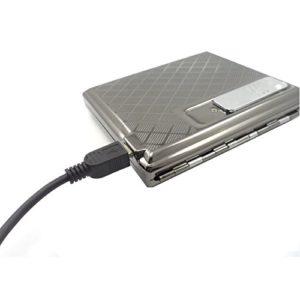 Latinaric Edelstahl USB Flameless elektronische nachladbare Laden Feuerzeug Zigaretten Halter