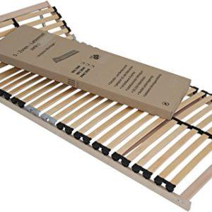 Lattenrahmen 90 * 200 cm 5 Zonen 28 Federholzleisten inkl Härtegradverstellung TÜV GS für Kinderbetten Jugendbetten Lattenrost