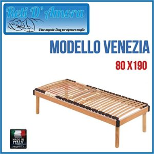 RETI D'AMORA Lattenrost aus Holz 80x 190Einzelbild in Buche Natur ORTOPEDIC Stoßdämpfer