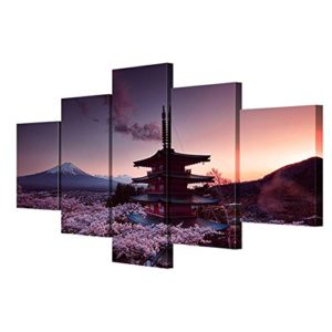 Leinwand Bilder moderne Wandkunst Leinwand mit Rahmen Mt Fuji landschaft Wohnzimmer dekorative malerei wandmalerei…