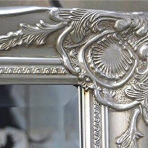 Livitat® Wandspiegel Spiegel barock antik Silber Weiß Schwarz Gold150 x 60 cm Facettenschliff