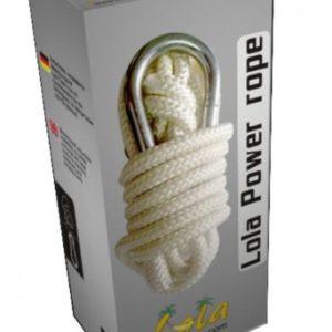 Lola Power Rope Hängemattenseil mit Karabiner Befestigung für Hängematte oder Hängesessel