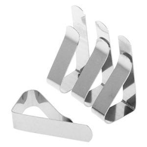 Lunji Tischtuch Klammer Tischdeckenklammer – 4 Stück Edelstahl Klammer Befestigen Tischdecke Clips