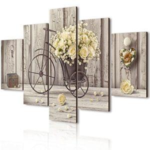 Lupia Vogue Bild auf Holz 5Stück Yellow Roses 66x 115cm