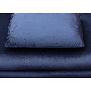 Luxus-Reiseset (Reisekissen, Reisebettmatratze) aus Visco-elastischem Airschaum (Memory-Foam), 2-teilig in blau, leichte…