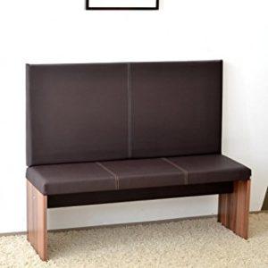 M / big Wand-Kissen Keil-form Keilwandkissen Kunstleder mit Montage-Set 115 x 55 cm – braun