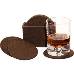 MC-TREND® Filzuntersetzer Glasuntersetzer aus Filz für Gläser, Tassen für Ihren Tisch Bar 8er Set in Filzbox