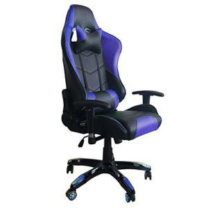 MCTECH® Racing Sportsitz Gaming Stuhl Bürostuhl Schreibtischstuhl, PU Leder Kunstleder Chefsessel, Drehstuhl mit Armlehnen, Ergonomisch Wippfunktion und Höhenverstellbar
