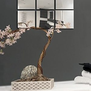 MSV Spiegel Spiegelfliesen Wandspiegel Fliesenspiegel selbstklebend 6 Stück – 10x10cm
