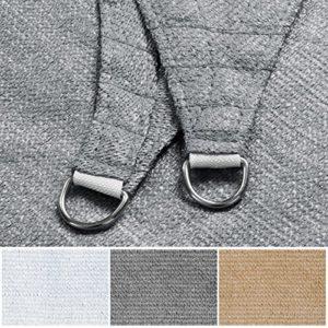 Mammut Sonnensegel | Rechteck, Dreieck oder Quadrat | UV-beständig und luftdurchlässig | Sonnenschutz für Balkon, Terrasse und Garten | viele Größen | Quadrat 3×3 m | Sand