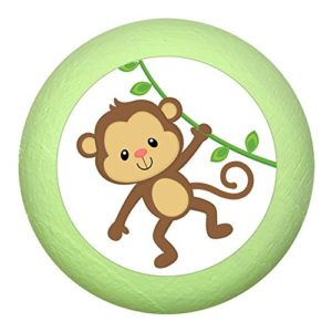 """Möbelgriff""""Affe"""" Holz Buche Buche Kinder Kinderzimmer wilde Tiere Zootiere Dschungeltiere 1 Stück Traum Kind"""