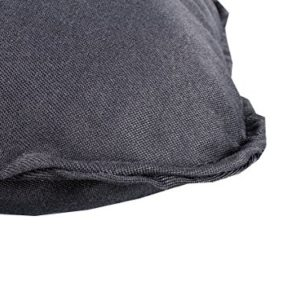 Meerweh 2er Set Hochlehner Auflage Kissen, Rückenteil ca 70 cm, Polsterauflage, grau, 120 x 50 x 10 cm